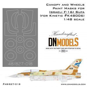f-16i Sufa canopy & wheels paint mask set for kinetic