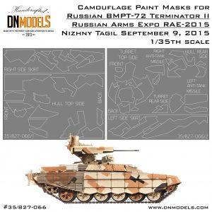 bmpt-72 terminator II rae 2015 airbrush paint camouflage mask set splinter camo