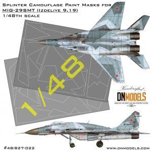 DN Models Splinter Camo Mask Set for MiG-29SMT 9-19 for GWH L4818