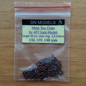 Mid-size Metal Tow Chain for 1/35 AFV scale models