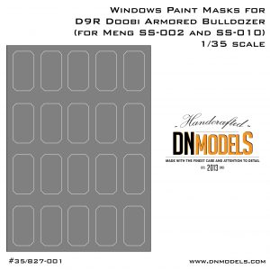 Window Paint Masks for MENG D9R Doobi armored bulldozer SS-002 1/35 scale