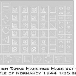 Paint Masks Set for British Tanks Markings Battle of Normandy 1944 1/35