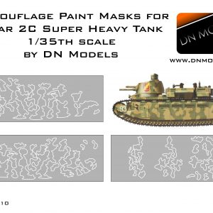 Camouflage paint masks for Char 2C 1/35 Meng Model Super Heavy tank