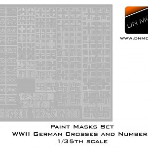 Paint Masks set 1/35 WWII German Crosses and Numbers Stencils Early + Late
