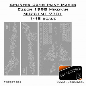 Splinter Camouflage Paint Masks Czech 1998 Mikoyan MiG-21MF 7701 1/48 scale