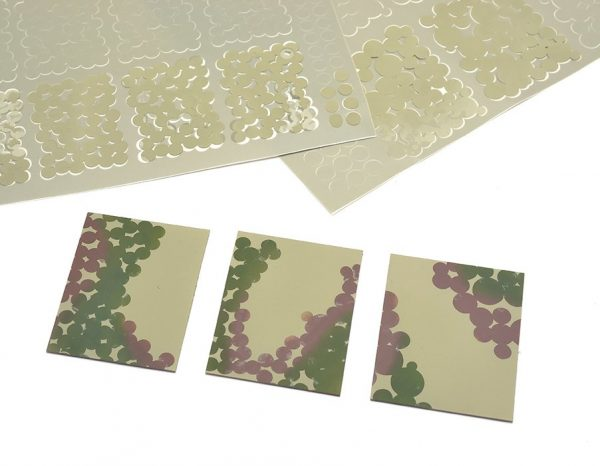 Paint masks with equal size roundels for German WWII ambush/disc camouflage