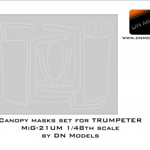 Canopy paint masks set for Trumpeter MiG-21UM Mikoyan 1/48 scale