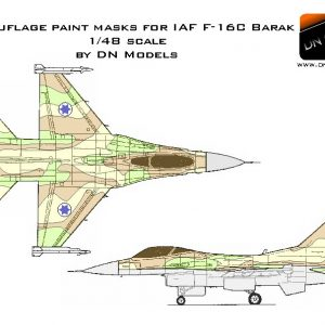 Camouflage Paint Masks for IAF F-16C Barak 1/48 scale