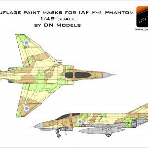 Camouflage Paint Masks for IAF F-4 Phantom 1/48 scale