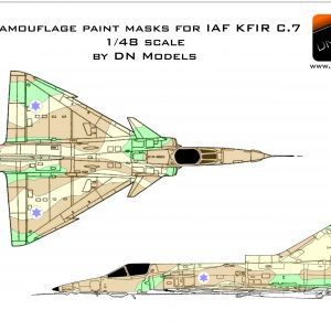 Camouflage Paint Masks for IAF KFIR C.7 1/48 scale