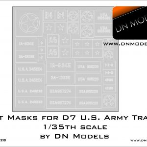 Paint Masks for D7 U.S. Army Tractor 1/35th scale