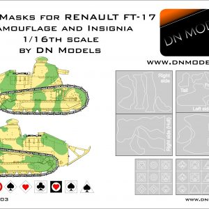 Paint Camo Masks 1/16 RENAULT FT-17 Camoufage and Insignia