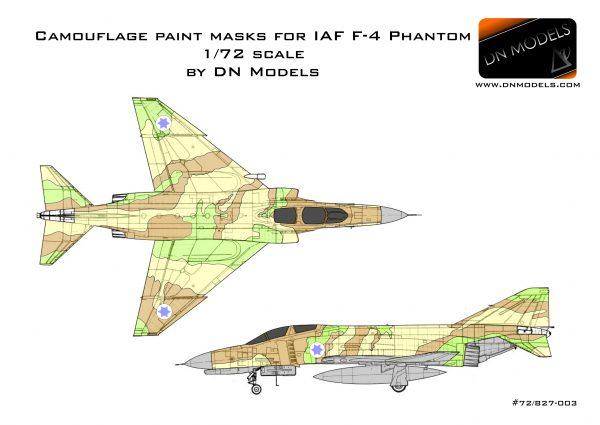 Camouflage Paint Masks for IAF F-4 Phantom 1:72