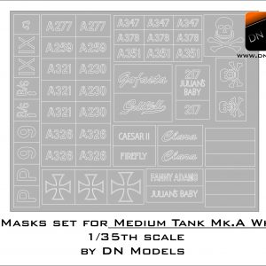 Paint Mask Set for Whippet Medium Tank Mk.A - Insignia and Crosses 1/35 scale