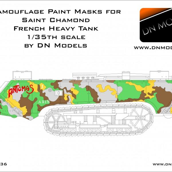 Camouflage Paint Masks for Saint Chamond 1/35 + Insignia - Meteociel Saint Chamond