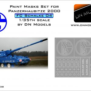 Paint Masks Set for Panzerhaubitze 2000 F.C. Schalke 04 1/35