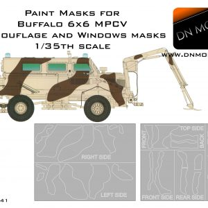 Paint Masks for Buffalo 6x6 MPCV French Army Camo + Windows 1/35 scale