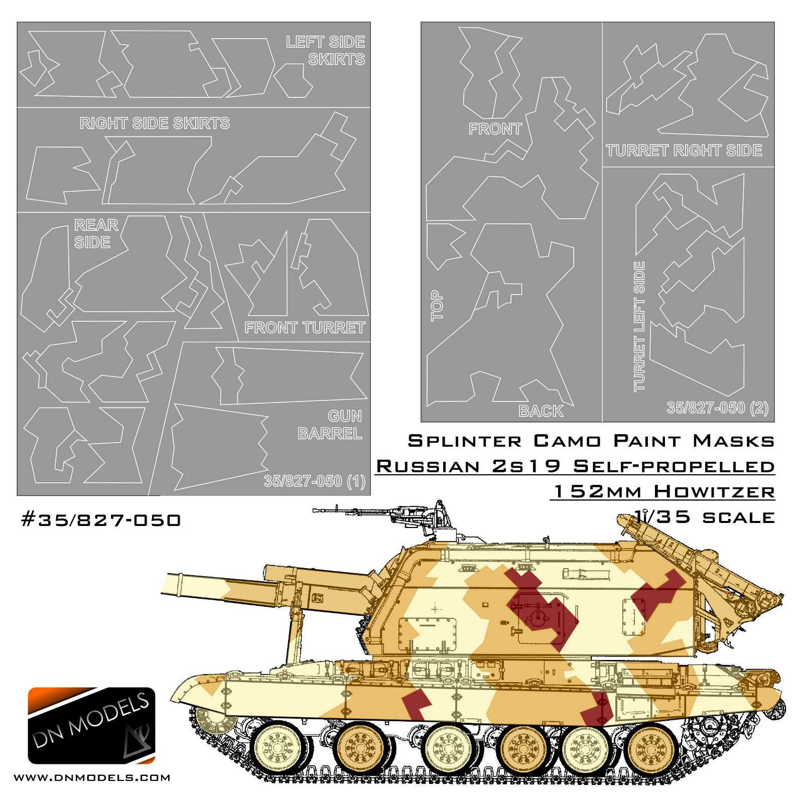 ff8afaaac15f Splinter Camo Paint Masks for T-14 Armata MBT 1 35 » DN Models