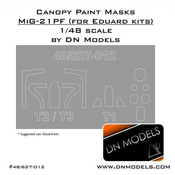 Canopy Paint Masks Set for MiG-21PF 1/48