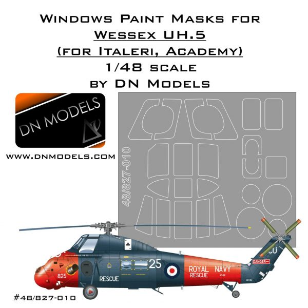 Paint Masks Set for Westland Wessex UH.5 1/48