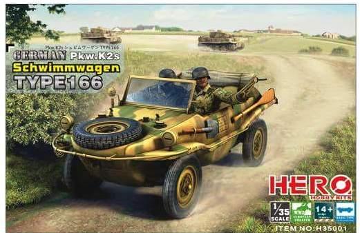 German Pkw.K2s Schwimmwagen Type 166 hero hobby