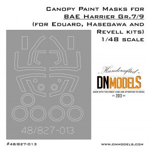 Canopy and Wheels Paint Masks Set for BAE Harrier Gr.7/9 1/48 scale (for Eduard, Hasegawa and Revell kits)