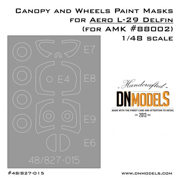 Canopy and Wheels Paint Masks Set for Aero L-29 Delfin (for AMK #88002)