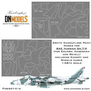 Arctic Camo + Bonus Canopy and Wheels Paint Masks Set for BAE Harrier Gr.7/9 1/48
