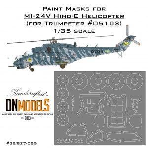 Paint Masks for Mil Mi-24 Hind Attack Helicopter (canopy + wheels)