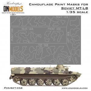 Camo Paint Masks for Soviet MT-LB 1/35 Trumpeter MT-LB kits