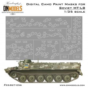 Digital Camouflage Paint Masks Set for Ukraine's MT-LB (camo + flags)