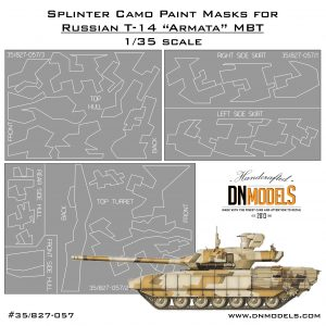Splinter Camouflage Paint Masks Set for T-14 Armata Russian MBT 1:35
