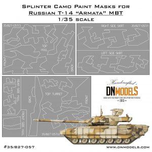 Splinter Camouflage Paint Masks Set for T-14 Armata Russian MBT 1:35