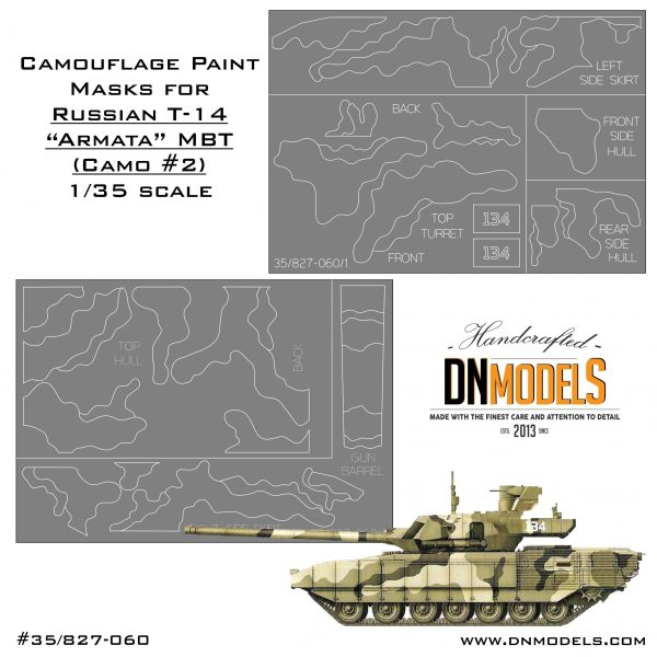 f17887fe3ed5 Camo Paint Masks for T-14 Armata MBT 1 35 (T-90 Style) » DN Models
