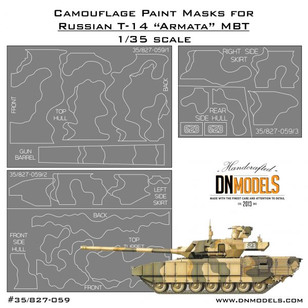 ac6c70db67b8 Camouflage Paint Masks for T-14 Armata MBT 1 35 » DN Models