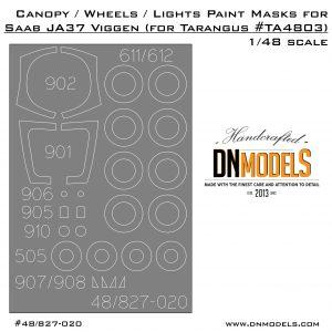 Cover saab 37 Viggen Canopy dn models tarangus 48th