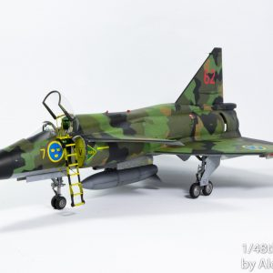 DN Models camo paint mask set, Saab Viggen masks