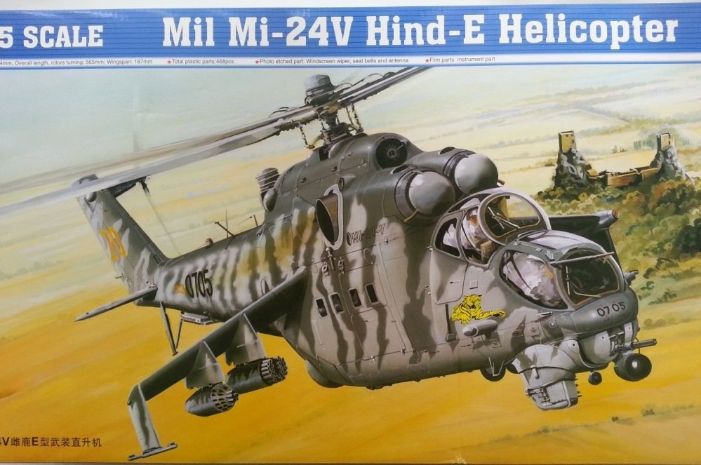 mi-24 trumpeter 05103 dn models unboxing and review