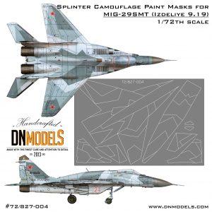 9-19 Mig-29SMT Splinter Camo 1/72 trumpeter 01676 dn models