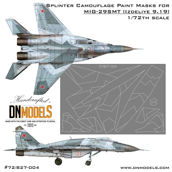 Cover Mig-29SMT Splinter Camo 72th paint mask set