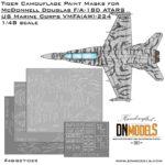 Cover F-18 Tiger Camo Masks (Site)