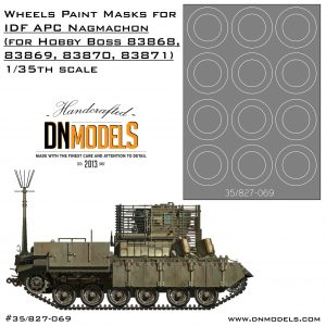 wheel paint mask set nagmachon idf apc hobby boss dn models