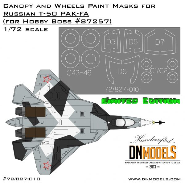 PAK-FA T-50 Canopy & Wheels Paint Masks 1/72 Limited Edition