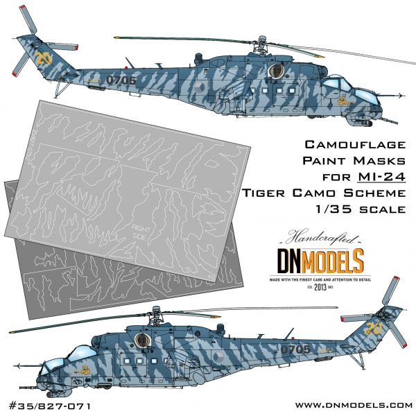 mil mi-24 hind camouflage paint mask set tiger camo czech air force 1/35 trumpeter 05103