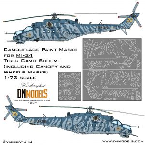 Paint Masks for Mil Mi-24 Tiger Camo w/Canopy & Wheels incl. 1/72