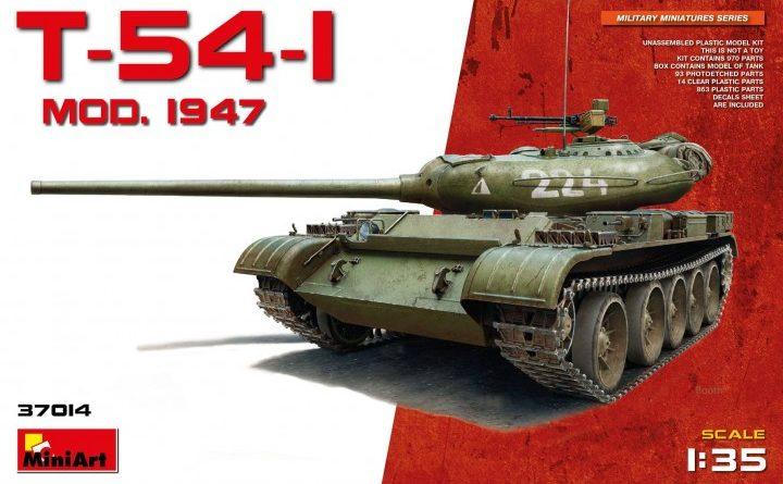 miniart 37014 t-54-1 no interior dn models review unboxing