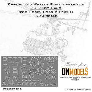 Paint Masks for Mil Mi-8, Mi-17 Hip Helicopter (canopy + wheels) 1/72