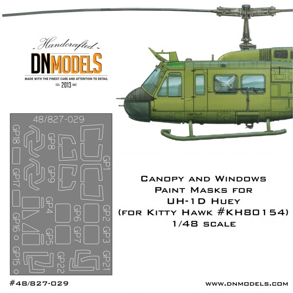Cover UH-1D Huey Canopy 48th scale (site)