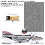 f-4s zoukei mura dn models canopy wheels mask set 1/48 phantom II sws no.5