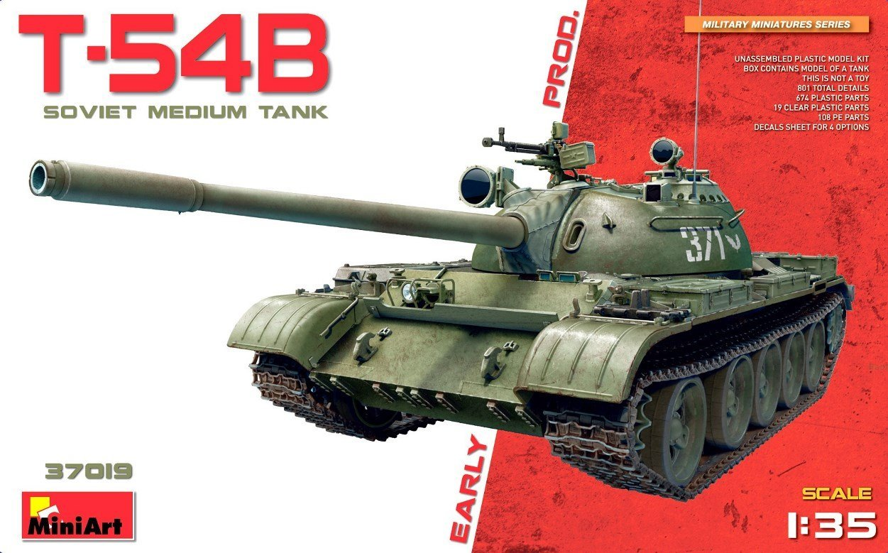 miniart 37019 dn models unboxing review t-54b